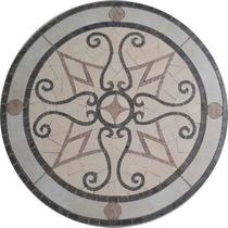 Roseton Artesanal De Porcelanato (guardas, Mallas, Bachas)