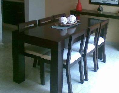 Mesa Enchapada Laqueada Comedor Moderna Madera 160x80 Cm. - $ 4500 ...