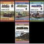 Santa Lucia 1985 Trenes Antiguos 8 Valores Mnh - No Envío