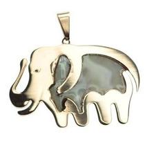 Dije Colgante Elefante Combinado Con Nacar Acero Gp8226r