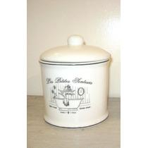 Algodonera Tarro De Ceramica Enlozada Baño Estilo Vintage