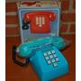 1980 Telefono A Cuerda En Caja Antiguo Juguete Excelente!!!