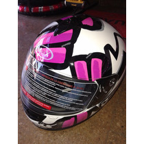 Casco Integral Mujer Rosa Max! Excelente! Wagner Hermanos!