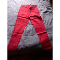 Pantalon Jean Color Rojo Para Chicos Cancheros