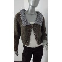 Sweater Saco Cardigan Tejido A Mano Lana - Diseño Exclusivo