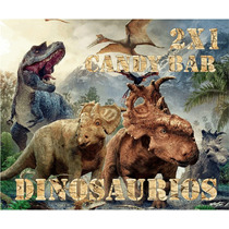 Kit Imprimible Dinosaurios Golosinas Cotillon Candy Bar 2x1