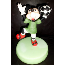 Adorno De Torta Mickey Mouse Y Minnie Mouse Porcelana Fria