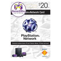 Psn Card U$$ 20 Usa Tarjeta Electronica Entrega Inmediata!