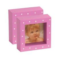 Porta Retratos Cubos - Plasticos Con Vidrio . Importados