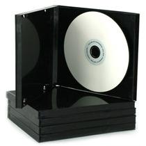 Estuche Para Cds - Simples Con Folio - Color Negro-x100u.