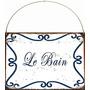 Carteles Chapa, Decoracion Vintage Baño Toilette Deco 105