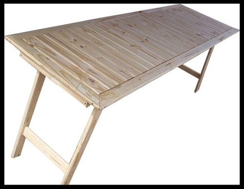 Mesa madera tablon caballetes patas plegables quincho madera a ars 800 en preciolandia Caballetes para mesa