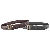 Cinturon Stx Cuero Exportacion, Hebilla De Bronce Doble