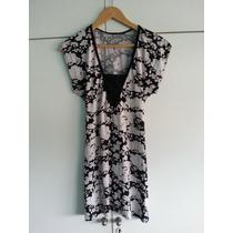 Vestido De Modal Con Lazo Y Diseño Flores