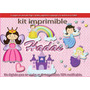 Kit Imprimible Candy Bar Hadas Cotillon Tarjetas Golosinas