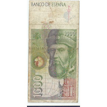 !!! España 1000 Pasetas 1992/96 Billete Vertical Imperdible
