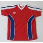Equipo Camiseta Futbol Short Azul Y Rojo Con Número Talle 8
