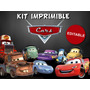 Kit Imprimible Editable Cars, Stickers Golosinas Cumpleaños