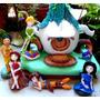 Adorno Torta Casa De Campanita Y Sus Hadas En Porcelana Fria