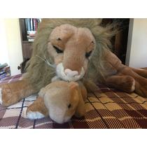 Peluche Leon Con Cachorro 60cm