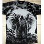 Remera Algod. - Parka Angel - Hard Rock Punk Metal Calavera