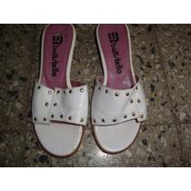 Suecos-sandalia Cuero Color Blanco Talle 36