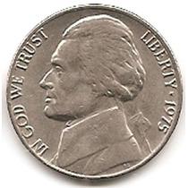 Moneda Estados Unidos De 5 Centavos.five Cents Año1975