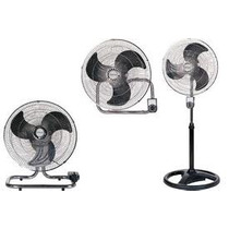 Ventilador Winco 3 En 1 Pie, Turbo Y Pared Paletas Metálicas