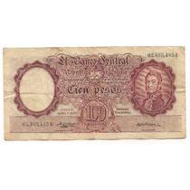 Billete 100 Pesos Moneda Nacional Bottero 2049 Año 1957