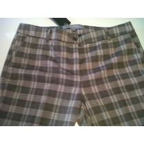 Pantalon Lanita Media Estacion Escoces Al Tobillo Tiro Medio