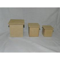 Cajitas De Fibrofacil 10x10x10