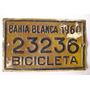 Patente De Bicicleta Bahía Blanca 1960 Nº23236