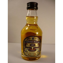 Botellita Miniatura Whisky Chivas Regal Aged 12 Years