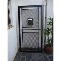 Puerta Reja De Material Desplegable Y Buzon Maxima Seguridad