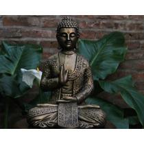 Budas De Yeso Patinas Artesanales Plata,bronce,madera,piedra