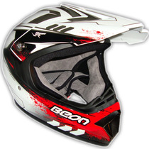 Casco Cross Beon B600 2013 / 2014 Enduro Atv En Fas Motos