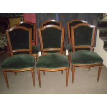 4 sillas estilo jacobino retapizadas en pana gris - Silla estilo luis xvi ...