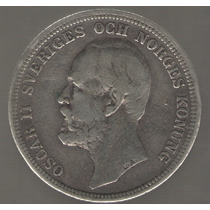 Suecia 2 Kronor 1903 Plata Mb-