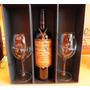 Caja Con Vino Y Copas De Cristal Personalizadas