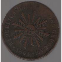 Uruguay 40 Centesimos 1844 Exc