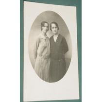 Fotografia Postal Damas Mujeres Peinados Vestidos Señoritas