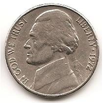 Moneda Estados Unidos De 5 Centavos.five Cents Año1972