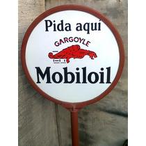 Historical*-cartel Enlozado Mobiloil Doble-impecable-envio