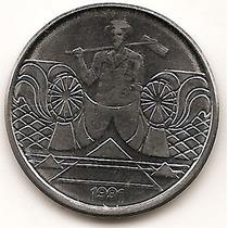 Brasil Moneda De 5 Cruzeiros Del Año 1991 Km#618.2