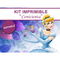 Kit Imprimible Editable Cenicienta, Candy Bar, Golosina