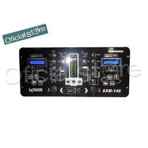 Consola Mezcladora Dj 2 Canales Doble Lcd/usb/mp3 Sxm146