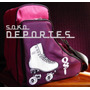 Bolso Mochila Porta Patines Artisticos Rollers Jockey Soko