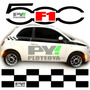 Kit Calcos Fiat 500 Franjas F1 - Calcomania Ploteoya!