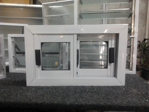 Ventana aluminio blanca vidrio entero 60 x 40 ventiluz for Cotizacion aluminio argentina
