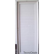 Puerta Exterior Aluminio Blanco Ciega Reforzada 90 Cm Llave